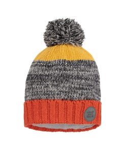 Deux par Deux Boys Knit Hat Yellow Black & Orange Size 4-14 | Boys Sun Hat 10ZK01 Multi