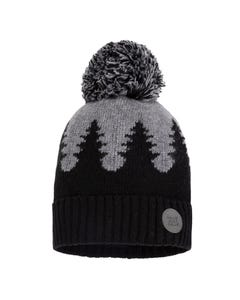 Deux par Deux Boys Knit Hat Black & Grey Size 4-14 | Toddler Boy Hats 10ZP01 Black