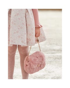 Abel & Lula Girls Purse Rose Faux Fur Size OS | Purses For Girls 5933 Pink