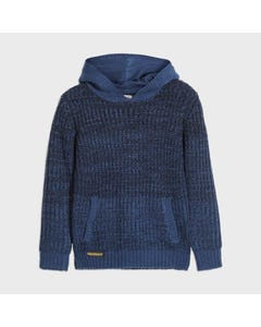 Nukutavake Boys Sweater Blue Hooded Cable Stitch Knit Pattern Size 8-18 | Baby Boy Sweaters 7318 Blue