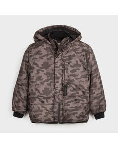 Nukutavake Boys Jacket Olive Hooded Camouflage Size 8-18 | Baby Boy Coats 7463 Tan