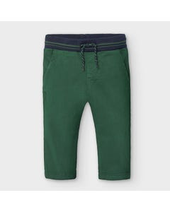 Mayoral Boys Pant Green Chino Slim Navy Print Size 6m-36m | Infant Pants 2580 Green
