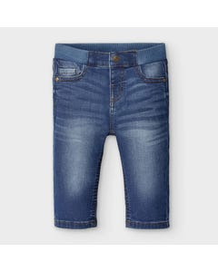 Mayoral Boys Pants Denim Blue Regular Fit Size 6m-36m | Infant Pants 30 Denim