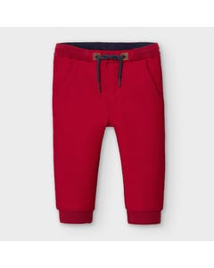 Mayoral Boys Jogger Pant Red Regular Fit Soft Size 6m-36m | Infant Pants 2579 Red