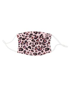 Deux Par Deux Unisex Face Mask Pink Leopard Print Non Medical Size S-L | Childrens Clothes And Accessories MASK4 Pink