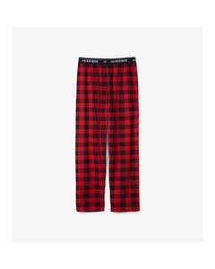 Hatley Boys Pyjama Pant Mens Red & Black Plaid Jersey Size XS-XXL | Childrens Pyjamas PA4PLAD001 Plaid