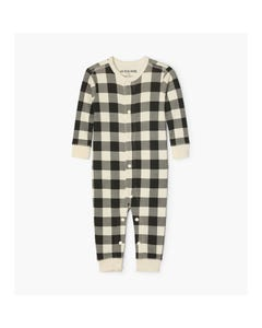 Hatley Boys Pyjama Baby Black & Cream Plaid Size 6M-24M | Pyjamas For Babies US0PLAD014 Plaid