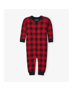 Hatley Unisex Pyjama Black & Red Plaid - Moose Print Size 6m-24m | Toddler Pyjamas US0PLAD004 Plaid