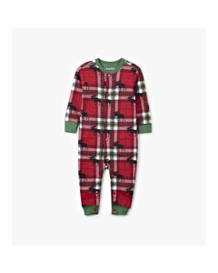 Hatley Unisex Jumpsuit Red & Green Plaid Moose Print Size 6m-24m | Childrens Pyjamas US0WIMO209 Plaid