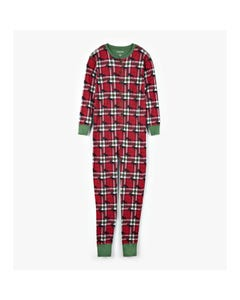 Hatley Unisex Jumpsuit Unisex Red Plaid Moose Print Size XS-XXL | Pyjamas For Babies US2WIM0209 Plaid