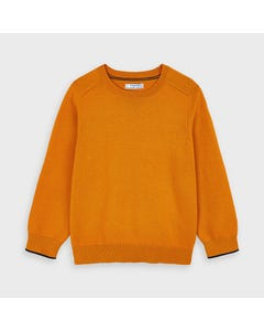 Mayoral Boys Sweater Orange Cotton Crew Neck Size 2-9 | Toddler Boy Sweaters 323 Orange