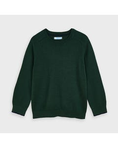 Mayoral Boys Sweater Green Cotton Crew Neck Size 2-9 | Boys Sweater Vest 323 Green
