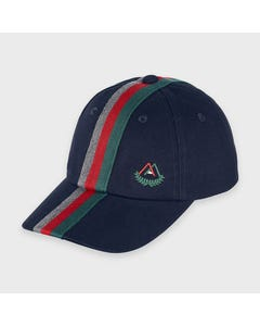 Mayoral Boys Cap Navy Red Green Grey Stripe Size 51-58 | Kids Hats 10909 Navy