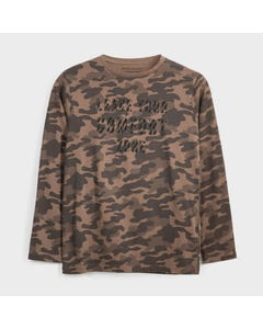 Mayoral Boys Tshirt Brown Camouflage Leave Comfort Zone Size 8-18 | Boys School Shirts 7046 Brown