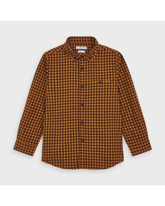 Mayoral Boys Shirt Orange & Blue Check Slim Fit Flannel Size 2-9 | Boys Designer Shirts 4144 Check