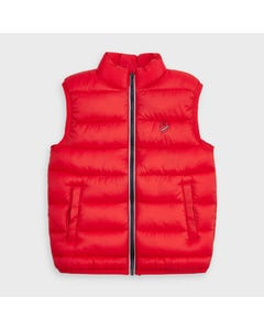 Mayoral Boys Vest Red Quilted Zip Closure Size 2-9 | Toddler Coats 4334 Red