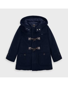 Mayoral Boys Coat Navy Wool Hooded Size 2-9 | Baby Coats 4480 Navy
