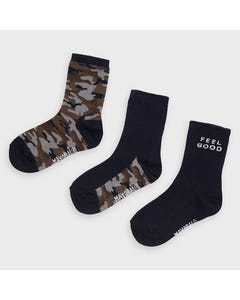 3 PC SOCK NAVY CAMOUFLAGE