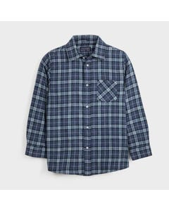 Mayoral Boys Shirt Blue Check Overshirt Size 8-18 | Kids Formal Clothing 7128 Blue