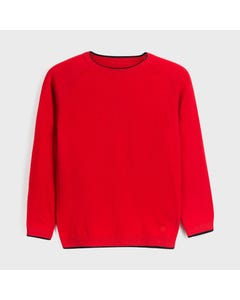 Mayoral Boys Sweater Red Crewneck Knit Size 8-18 | Kids Sweaters Boys 350 Red