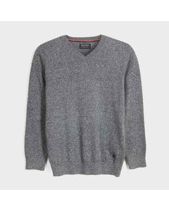 Mayoral Boys Sweater Grey Cotton Vneck Size 8-18 | Toddler Boy Sweaters 354 Grey