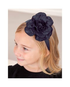 Abel & lula Girls Headband Navy Large Flower Trim Size OS | Baby Girl Hair Accessories Online 5929 Navy