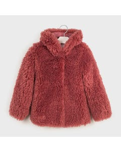 Mayoral Girls Coat Burgundy Furry Size 8-18 | Baby Coats 7410 Pink