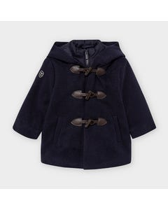 Mayoral Boys Trench Coat Navy Hooded Toggle Closure Size 12m-36m | Kids Jackets 2488 Navy
