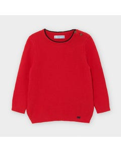 Mayoral Boys Sweater Red Cotton Plain Size 6m-36m | Sweaters For Toddlers 309 Red