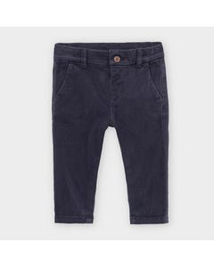 Mayoral Boys Pant Navy Chino Slim Adjustable Waist Size 6m-36m | Baby Pants 521 Navy