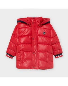 Mayoral Boys Jacket Red Hooded Outdoor Navy Fleece Lining Size 12m-36m | Baby Jackets 2482 Red