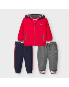 Mayoral Boys 2Pc Tracksuit Red & Navy Hooded 2 Pants Size 6m-36m | Kids Tracksuits 918 Red