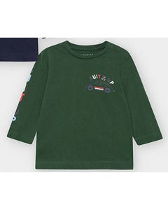 Mayoral Boys Tshirt Green Suit Up & Car Print Size 6m-36m | Baby Shirts 2476 Green