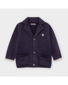 Mayoral Boys Knit Jacket Navy Dressy 2 Pockets Size 6m-36m | Kids Jackets 2476 Navy