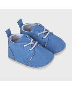Mayoral Boys Shoe Blue Suede Lace Ties Size 15-19 | Baby Shoes 9331 Blue