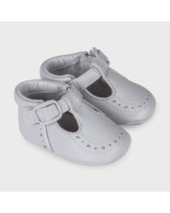 Mayoral Boys Shoe Grey Velcro Strap Closure Cutout Design Size 15-19 | Baby Shoes 9332 Grey