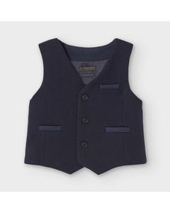Mayoral Boys Vest Navy Dressy 3 Imitation Pockets Size 6m-36m | Vests For Babies 2351 Navy
