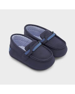 Mayoral Boys Moccasins Navy Leatherette Slip On Size 15-19 | Baby Shoes 9330 Navy