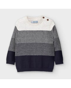 Mayoral Boys Sweater Navy & Beige Stripe Size 6m-36m | Baby Sweaters 2344 Stripe