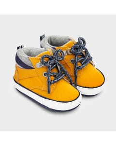 Mayoral Boys Sport Boot Yellow Navy Laces Size 15-19 | Toddler Shoes 9334 Yellow
