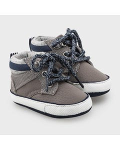 Mayoral Boys Sport Boot Grey Navy Laces Size 15-19 | Baby Shoes 9334 Grey