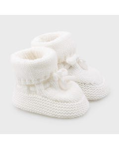 Mayoral Boys Knit Booties White Size 0m-3m | Baby Shoes 9347 White
