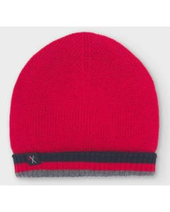 Mayoral Boys Hat Red & Navy Reversible Knit Size 6m-24m | Baby Sun Hats 10846 Red
