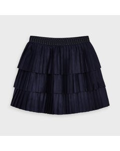 Mayoral Girls Skirt Navy Pleated 3 Tiers Size 2-9 | Skirts For Baby Girl 4958 Navy