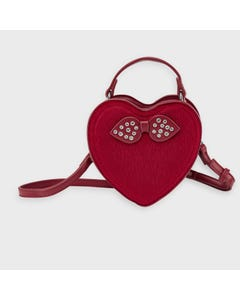 Mayoral Girls Handbag Red Leatherette Bow & Rstones Size OS | Girls Designer Purses 10919 Red