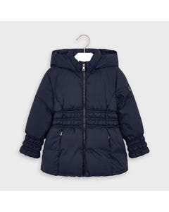 Mayoral Girls Jacket Navy Hooded Elastic Waist Size 2-9 | Baby Coats 415 Navy