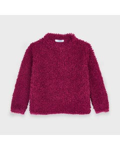 Mayoral Girls Sweater Top Cherry Fuzzy Size 2-9 | Baby Girl Sweaters 4346 Red