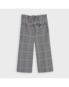 Mayoral Girls Pant & Belt Grey Check Cropped Size 2-9 | Shorts For Kids Girl 4553 Plaid