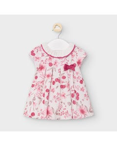 Mayoral Girls Dress Cream & Red Flower & Cherry Print Size 3m-18m | Dresses For Babies 2868 Cream