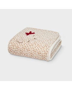 Mayoral Girls Blanket Fur & Sheared Cream & Brown Print Size OS | Childrens Blankets 9778 Beige